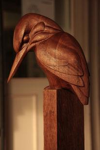 Holzbildhauer, Eisvogel, Schnitzkunst, Kunsthandwerk