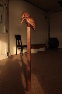 Skulptur, Holzbildhauer, Vogel, Schnitzkunst