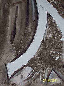 Sand, Marmormehl, Acrylmalerei, Abstrakt