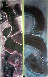 Spachtelstruktur, Black earth, Acrylmalerei, Abstrakt