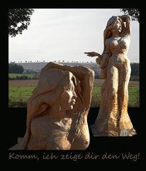 Wegweiser, Seeboden, Blockhausen, Kettensägekünstler