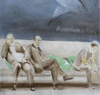 Metro, Warten, Paris, Unscharf