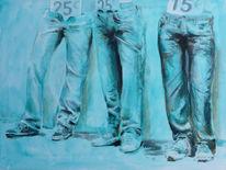 Jeans, Malerei