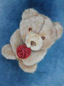 Malerei, Pflanzen, Teddy