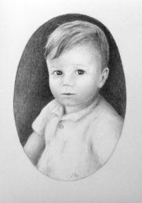 Kind, Portrait, Junge, Zeichnungen