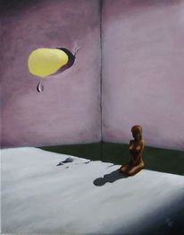 Figur, Raum, Malerei, Surreal
