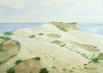 Insel, Sylt, Aabeck, Aquarellmalerei