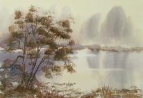 Aabeck, Aquarellmalerei, Malerei, Landschaft