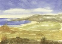 Insel, Neuseeland, Meeresstrand, Landschaftsmalerei