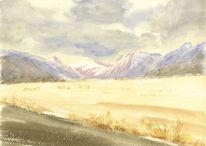 Wolken, Neuseeland, Berge, Gletscher