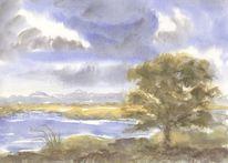 Seeufer, Angeln, Aotearoa, Wolken