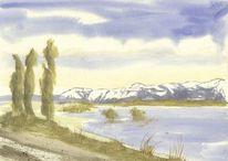 Landschaft, Berge, Schneeberge, Gletscher