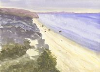 Neuseeland, Landschaftsmalerei, Aquarell