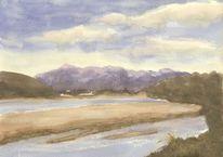 Fluss, Landschaft, Neuseeland, Flußufer