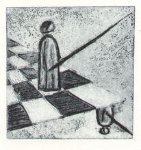 Radierung, Schach, Druckgrafik