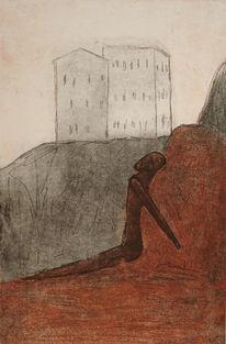 Prozess, Franz kafka, Grafik, Surreal