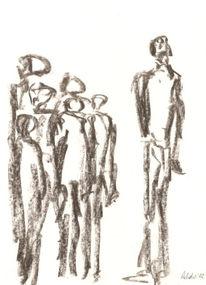 Franz kafka, Gemeinschaft, Zeichnungen, Kohlezeichnung
