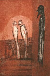 Franz kafka, Türhüter, Grafik, Surreal