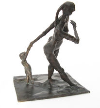 Skulptur, Kleinbronze, Plastik, Bronze