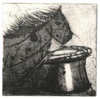Schach, Radierung, Druckgrafik, Springer