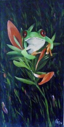 Natur, Grün, Blüte, Frosch