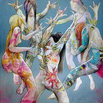 Hard rock, Moshpit, Blüte, Aktmalerei