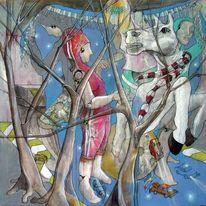 München, Malerei, Kids, Zeichnung