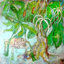 Baum, Blüte, Liebe, Malerei