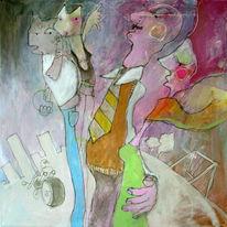 Malerei, Cartoon, Eltern, Kultur