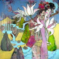 Asiatische kunst, Deutsch, Expressionismus, Malerei
