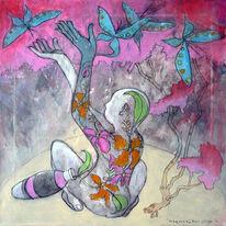 Frühling, Kultur, Akt, Schmetterling