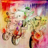 Straße, Malen, Illustration, Zeichnung