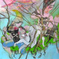 Expressionismus, Mond, Layouter, Baum