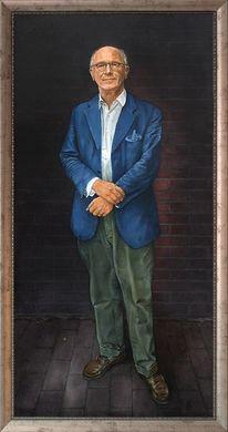 Portrait, Lasurtechnik, Malerei,