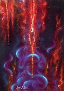 Schöpfung, Malerei, Acrylmalerei, Energie