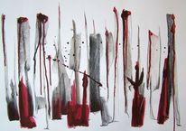 Zeichnungen, Abstrakt, Rot, Komposition