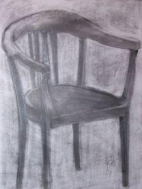 Zeichnung, Zeichnungen, Stuhl
