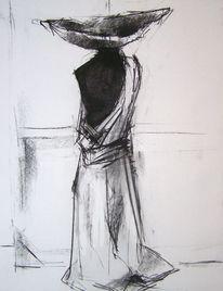 Zeichnungen, Portrait, Torso, Skizze