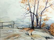 Sächsische schweiz, Landschaft, Herbst, Herbstlandschaft