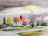 Gebäude, Zuckelhausen, Herbst, Kirche