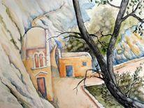 Landschaft, Kreta, Kloster, Ruine