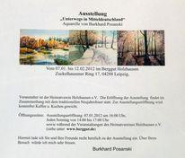 Aquarellmalerei, Landschaft, Ausstellung, Gebäude