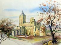 Landschaft, Gebäude, Haus, Rudelsburg