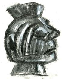 Figural, Sommer, Maske, Ölmalerei