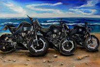 Strand, Lenker, Bike, Stein