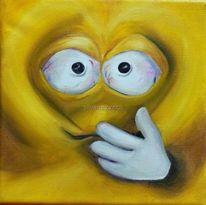 Gesicht, Liebe, Bund, Emotionen einer leinwand