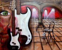 Bass, Stein, Menschen, Wand