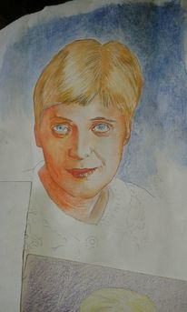 Lasurtechnik, Realismus, Portrait, H2oil