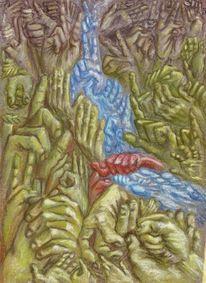 Zeichnungen, Surreal, Landschaft