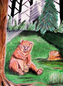 Natur, Honig, Wiese, Wald